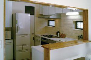 L型対面キッチン